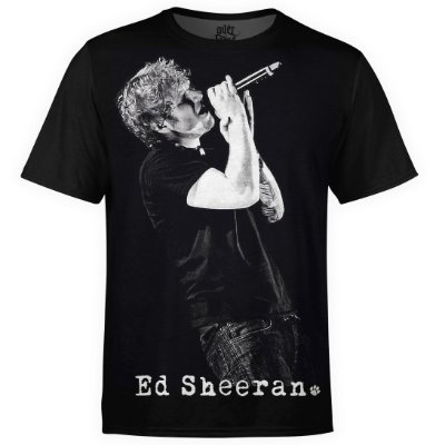 Camiseta masculina Ed Sheeran Estampa digital md01