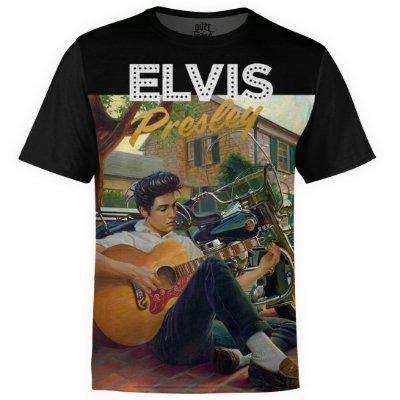 Camiseta masculina Elvis Presley Estampa digital md02