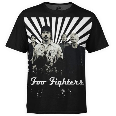 Camiseta masculina Foo Fighters Estampa digital md02