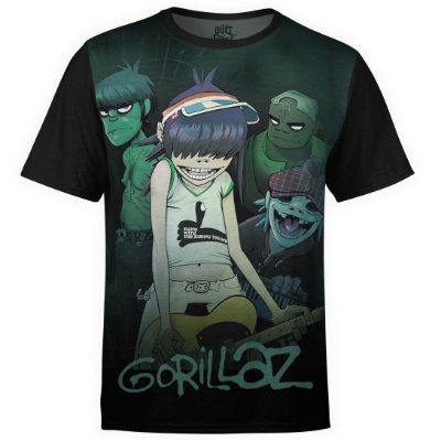 Camiseta masculina Gorillaz Estampa digital md01
