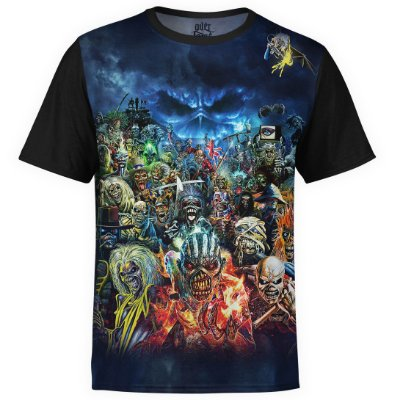 Camiseta masculina Iron Maiden Estampa digital md01