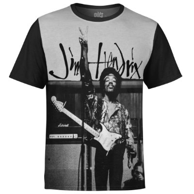 Camiseta masculina Jimi Hendrix Estampa digital md03