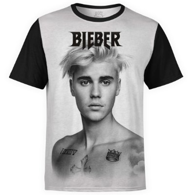 Camiseta masculina Justin Bieber Estampa digital md02
