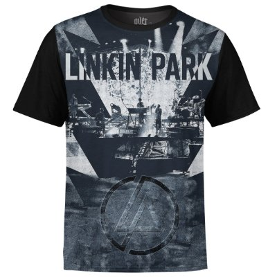 Camiseta masculina Linkin Park Estampa digital md01