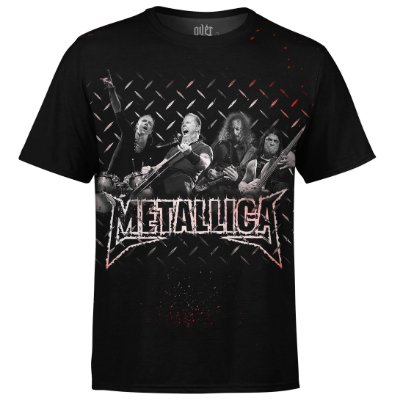 Camiseta masculina Metallica Estampa digital md01