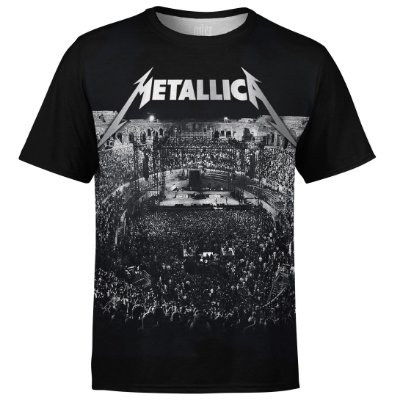Camiseta masculina Metallica Estampa digital md04