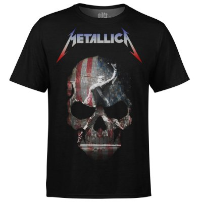 Camiseta masculina Metallica Estampa digital md05