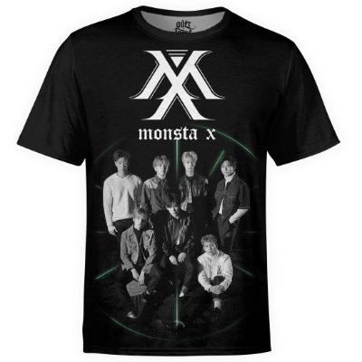 Camiseta masculina Monsta X Estampa digital md01