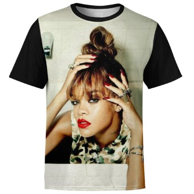 Camiseta masculina Rihanna Estampa digital md03