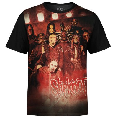 Camiseta masculina Slipknot Estampa digital md01