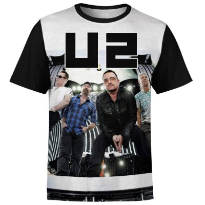 Camiseta masculina U2 Estampa digital md02