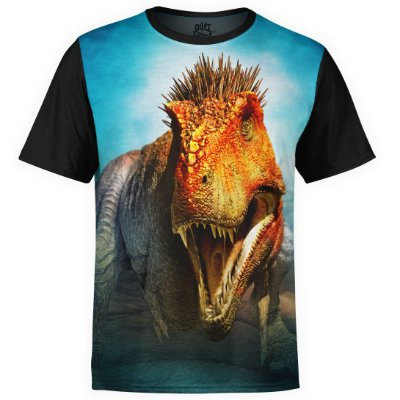 Camiseta masculina Sci-fi T-Rex Estampa digital Md03