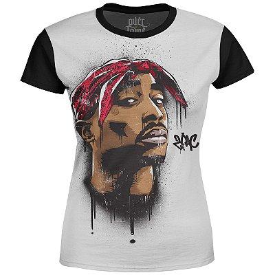 Camiseta Baby Look Feminina 2PAC Tupac Shakur Md04