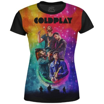 Camiseta Baby Look Feminina Coldplay Estampa digital md01