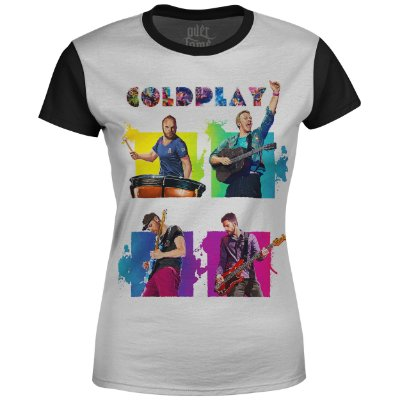Camiseta Baby Look Feminina Coldplay Estampa digital md02
