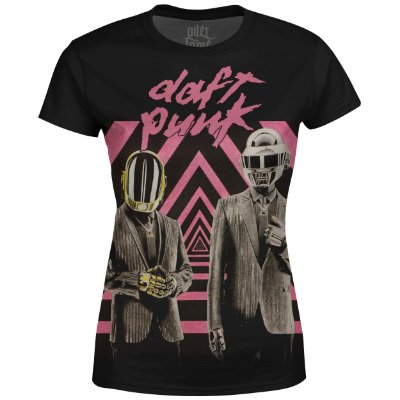 Camiseta Baby Look Feminina Daft Punk Estampa digital md01