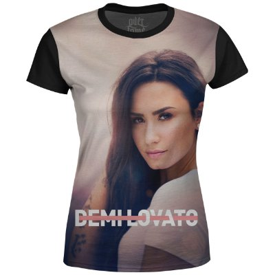 Camiseta Baby Look Feminina Demi Lovato Estampa digital md01