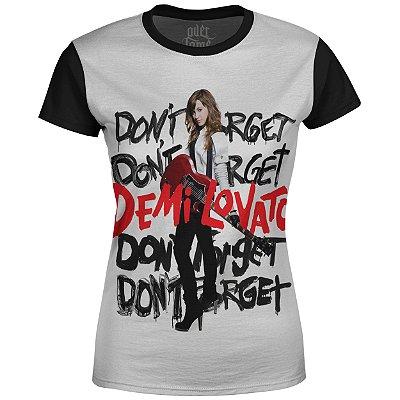 Camiseta Baby Look Feminina Demi Lovato Estampa digital md03