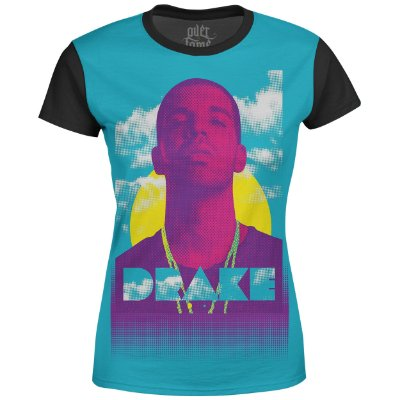 Camiseta Baby Look Feminina Drake Estampa digital md01