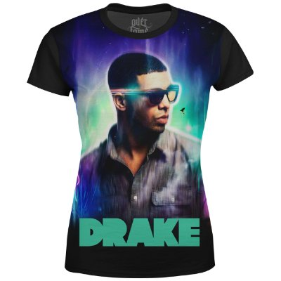 Camiseta Baby Look Feminina Drake Estampa digital md02