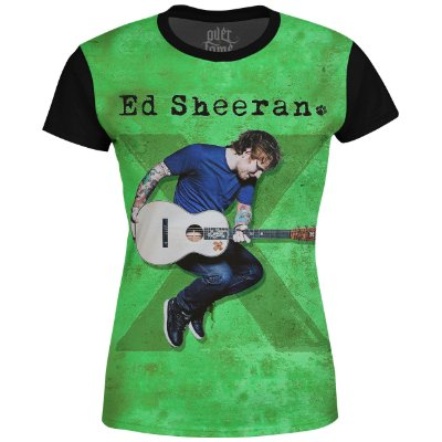 Camiseta Baby Look Feminina Ed Sheeran Estampa digital md02