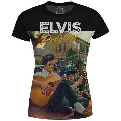 Camiseta Baby Look Feminina Elvis Presley md02