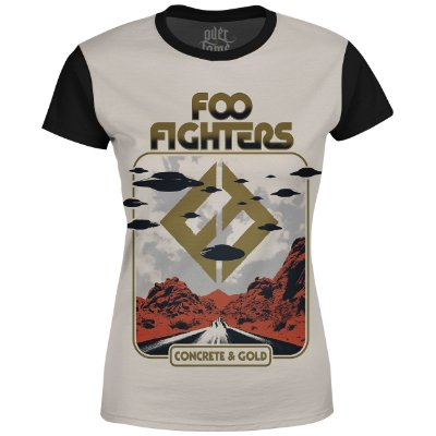 Camiseta Baby Look Feminina Foo Fighters md05