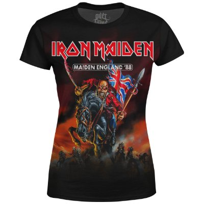 Camiseta Baby Look Feminina Iron Maiden Estampa digital md02