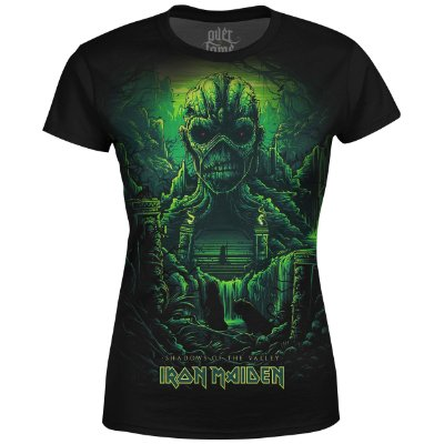 Camiseta Baby Look Feminina Iron Maiden Estampa digital md04