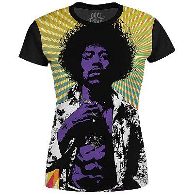 Camiseta Baby Look Feminina Jimi Hendrix md01