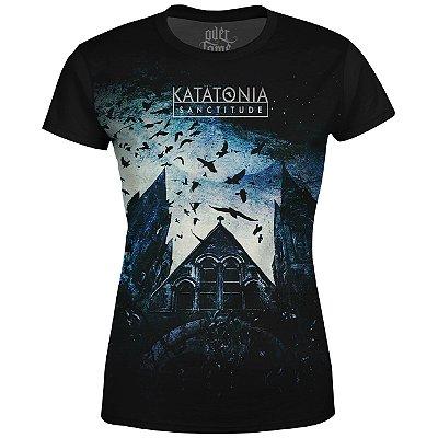 Camiseta Baby Look Feminina Katatonia Estampa digital md01