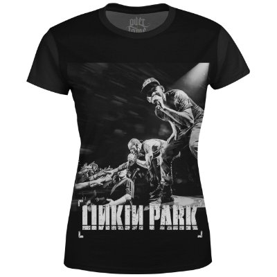 Camiseta Baby Look Feminina Linkin Park Estampa digital md03