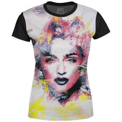 Camiseta Baby Look Feminina Madonna Estampa digital md01