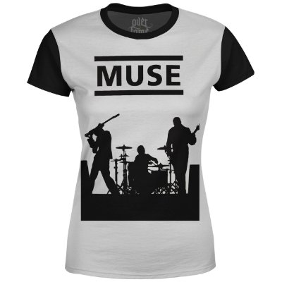 Camiseta Baby Look Feminina Muse Estampa digital md04