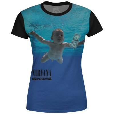 Camiseta Baby Look Feminina Nirvana Estampa digital md02