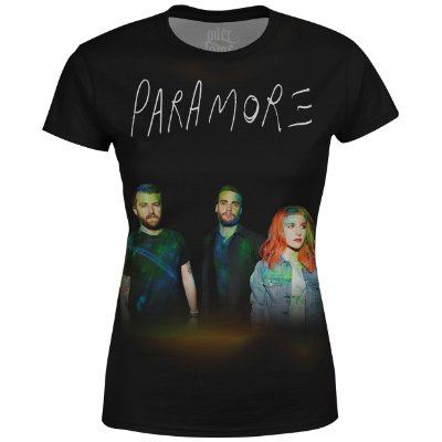 Camiseta Baby Look Feminina Paramore Estampa digital md01