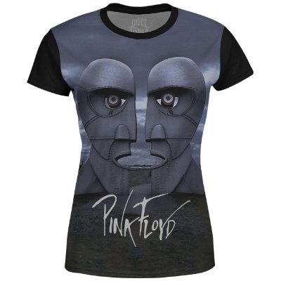 Camiseta Baby Look Feminina Pink Floyd Estampa digital md02