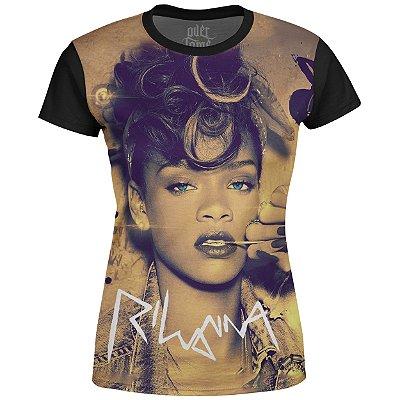 Camiseta Baby Look Feminina Rihanna Estampa digital md02
