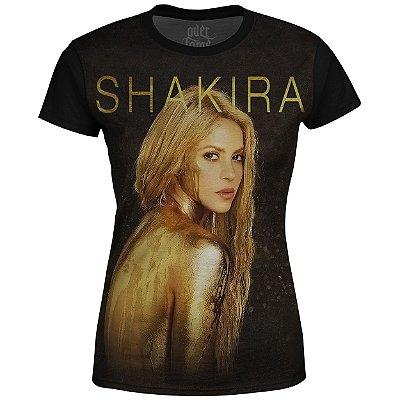 Camiseta Baby Look Feminina Shakira Estampa digital md03