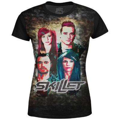 Camiseta Baby Look Feminina Skillet Estampa digital md03