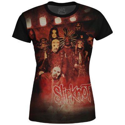 Camiseta Baby Look Feminina Slipknot Estampa digital md01