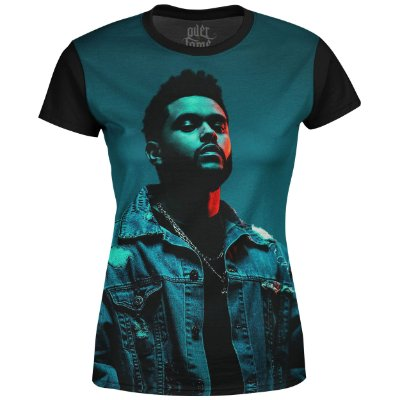 Camiseta Baby Look The Weeknd Estampa digital md03