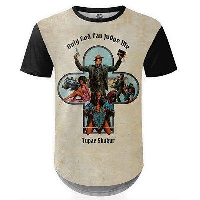 Camiseta Masculina Longline 2PAC Tupac Shakur Md02