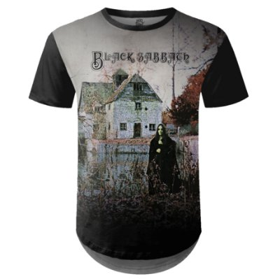 Camiseta Masculina Longline  Black Sabbath md01