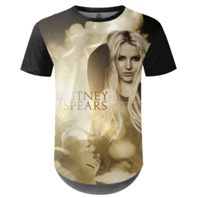 Camiseta Masculina Longline Britney Spears md02