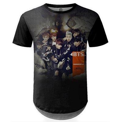 Camiseta Masculina Longline BTS Bangtan Boys md04