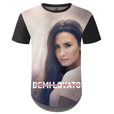Camiseta Masculina Longline Demi Lovato Estampa digital md01