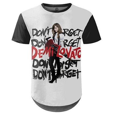 Camiseta Masculina Longline Demi Lovato Estampa digital md03