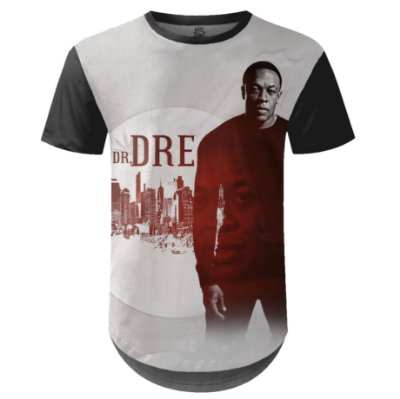 Camiseta Masculina Longline Dr. Dre Estampa digital md02