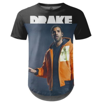 Camiseta Masculina Longline Drake Estampa digital md03